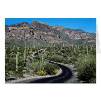 Montañas de Ajo, monumento nacional del cactus del Tarjeta De Felicitación