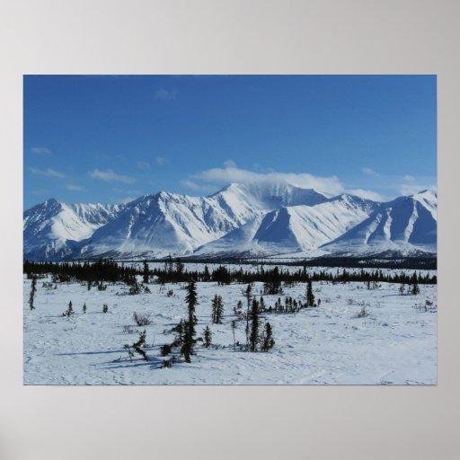 Montañas de Alaska Poster
