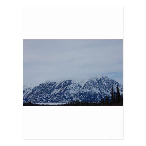 Montañas de Alaska Tarjeta Postal
