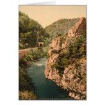 Montañas de Auvergne - Le Cantal, garganta del Tarjeta De Felicitación
