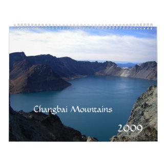 Montañas de Changbai, China/fotos del viaje Calendario De Pared