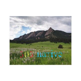 Montañas de Chautauqua Impresión De Lienzo
