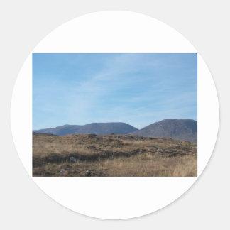 Montañas de Connemara Etiquetas Redondas