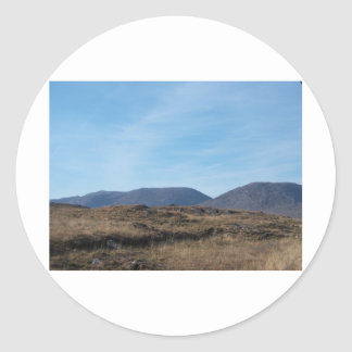 Montañas de Connemara Pegatina Redonda