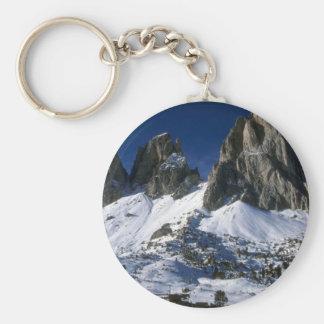 Montañas de Dolomiti, el invierno de las montañas Llavero