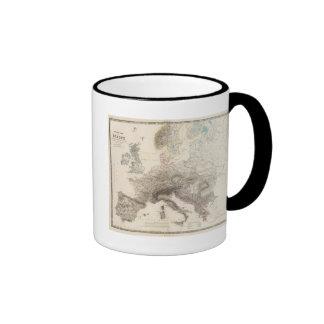 Montañas de Europa Taza De Dos Colores
