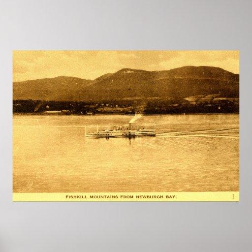 Montañas de Fishkill, bahía de Newburgh, Nueva Yor Posters