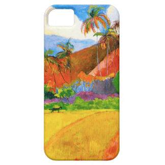 Montañas de Gauguin en caso del iPhone 5 de Tahití Funda Para iPhone SE/5/5s