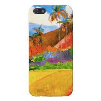 Montañas de Gauguin en caso del iPhone 5 de Tahití iPhone 5 Fundas