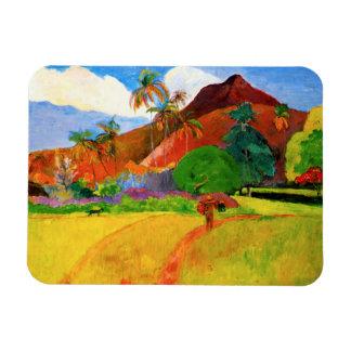 Montañas de Gauguin en el imán de Tahití