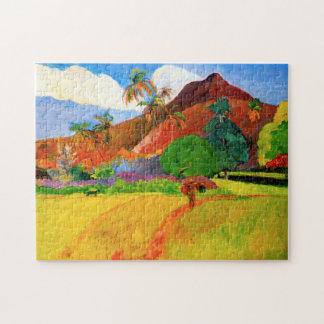 Montañas de Gauguin en el rompecabezas de Tahití