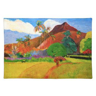 Montañas de Gauguin en Tahití Placemat Mantel Individual