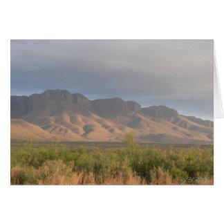 Montañas de Guadalupe Tarjeta De Felicitación