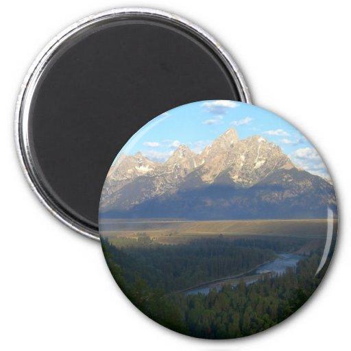 Montañas de Jackson Hole Imán Redondo 5 Cm
