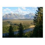 Montañas de Jackson Hole y postal del río
