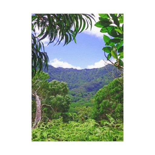 Montañas de Koolau Lienzo Envuelto Para Galerías
