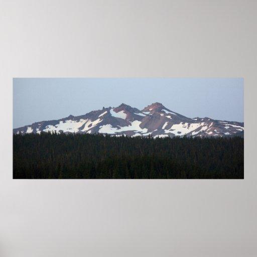 Montañas de la cascada de Oregon Posters