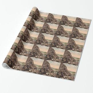 Montañas de la central eléctrica del vintage papel de regalo