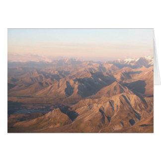 Montañas de la gama de Alaska Tarjeta De Felicitación
