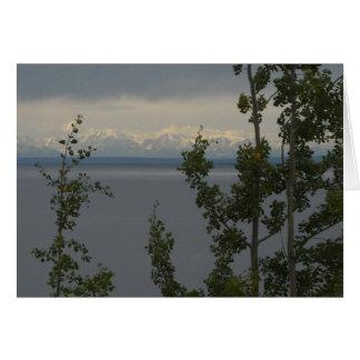 Montañas de la gama de Alaska Tarjeta Pequeña