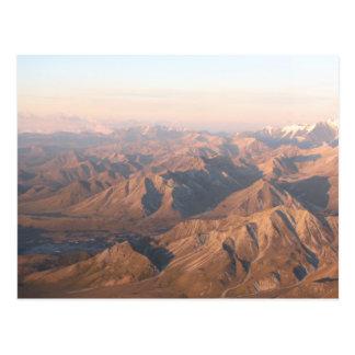 Montañas de la gama de Alaska Tarjetas Postales