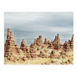 Montañas de la piedra arenisca tarjeta postal