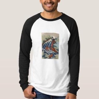 Montañas de la pintura del arte de Hokusai Playera
