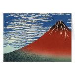 Montañas de la pintura del arte de Hokusai Tarjeton