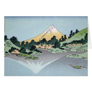 Montañas de la pintura del arte de Hokusai Tarjeta De Felicitación