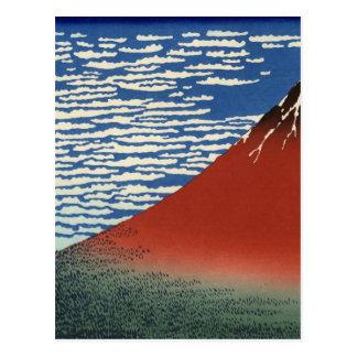 Montañas de la pintura del arte de Hokusai Tarjetas Postales