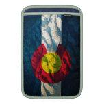 Montañas de la roca de la bandera de Colorado Funda Para Macbook Air