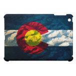 Montañas de la roca de la bandera de Colorado iPad Mini Cárcasas