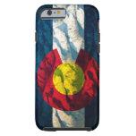 Montañas de la roca de la bandera de Colorado Funda Para iPhone 6 Tough