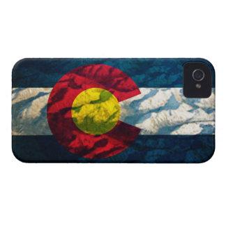 Montañas de la roca de la bandera de Colorado iPhone 4 Case-Mate Fundas