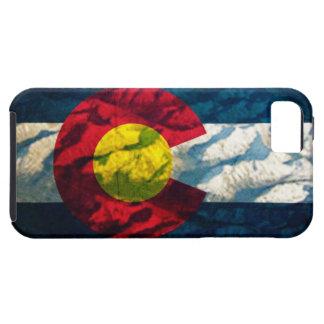 Montañas de la roca de la bandera de Colorado iPhone 5 Carcasas