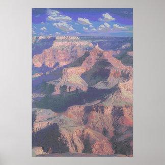 montañas de la roca póster