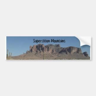 Montañas de la superstición pegatina para auto