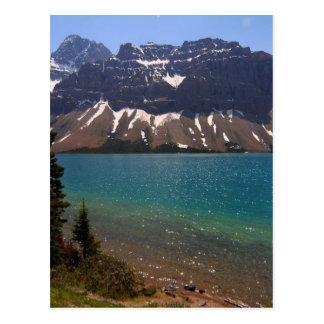 Montañas de los lagos canada del jaspe tarjeta postal