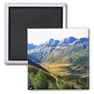 Montañas de los Pirineos, Francia Imán Cuadrado