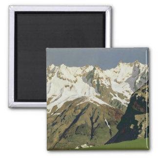 Montañas de Mont Blanc, 1897 Imán Cuadrado