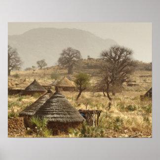 Montañas de Nuba, pueblo de Nugera Poster