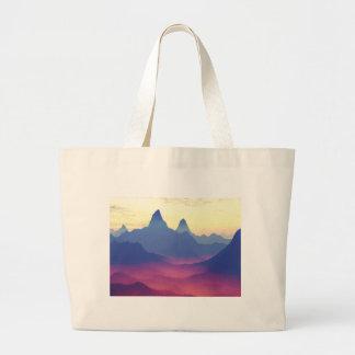 Montañas de otro mundo bolsa tela grande