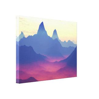 Montañas de otro mundo impresion de lienzo