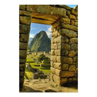 Montañas de Perú, los Andes, los Andes, Machu Picc Foto