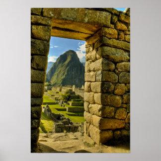 Montañas de Perú, los Andes, los Andes, Machu Picc Póster