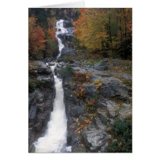 Montañas de plata del blanco de la cascada tarjeta de felicitación