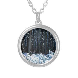 Montañas de Pocono de los árboles de pino de blanc Collares Personalizados