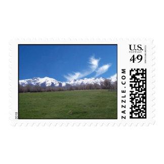 Montañas de rubíes en abril sellos