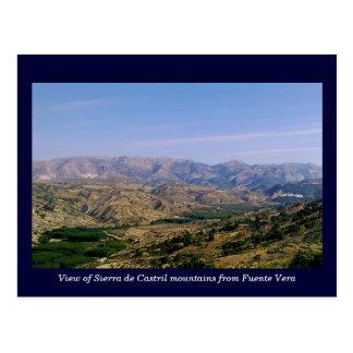 Montañas de Sierra de Castril, Granada, España Postal