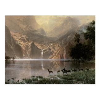 Montañas de Sierra Nevada del vintage Tarjeta Postal